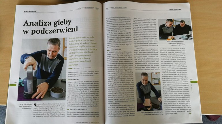 AgroCares mentioned in Polish agricultural magazine AGROTECHNIKA
