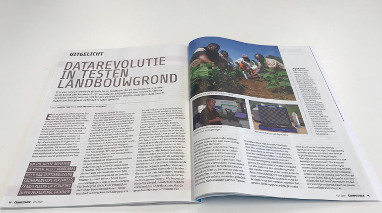 AgroCares featured in the February issue of Computable Magazine